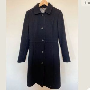 J. Crew Lady Day Coat double-cloth Black Size 2
